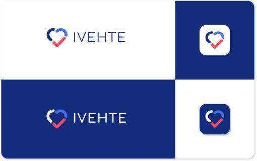 Montage présentant le logo et l'icône de l'application d'éducation thérapeutique, IVEHTE.
