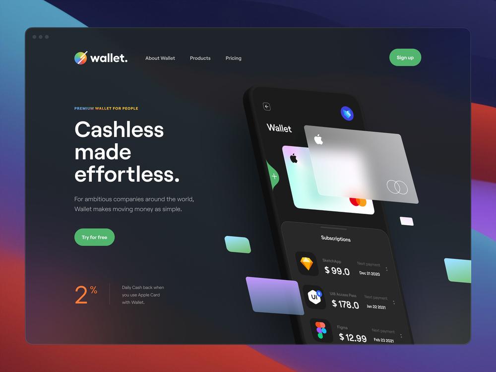 Les tendances web design en 2021. Design by Tran Mau Tri Tam